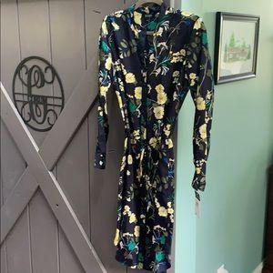 NWT Lauren Ralph Lauren dress navy floral 4 $165